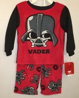 NEW Disney Star Wars Toddler Boys Darth Vader Red Fleece Pajama Set 2T