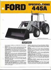 Original Ford Model 445A Tractor Loader Backhoe Sales Brochure Form AD2291 28740
