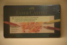 Faber-Castell Polychromos Color PensilsTin Set of 12-New Sealed