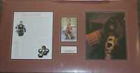 hockey TERRY SAWCHUK autograph/auto/signed cut matted ready 2 frame RARE PSA/DNA