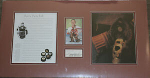 hockey TERRY SAWCHUK autograph auto signed cut matted ready 2 frame