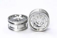 Tamiya 54737 1/10 RC Matte Plated Dish Wheels Silver 26mm Width/Offset +2