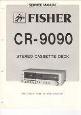 Fisher-cr-9090 - Service Manual for stéréo cassette audio Deck-b7591