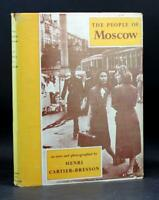 First Edition 1955 The People Of Moscow Henri Cartier-Bresson Hardcover W/Dj