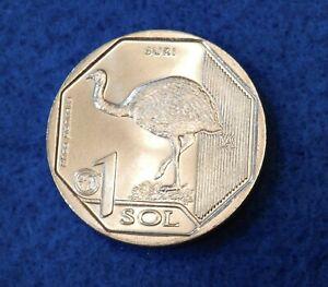 2018 Peru 1 Sol - Darwin's Rhea - Beautiful Uncirculated Coin - See PICS