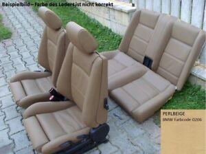 BMW e30 Cabrio Sitzbezüge vorne und hinten (BMW Nappa Perlbeige)