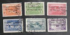 TIMBRES D'ALBANIE : 1924 YVERT N° 144 + 146 à 150 Oblitéré - SERIE INCOMPLETE