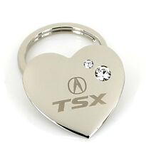 Acura TSX Heart Shape Keychain W/2 Swarovski Crystals
