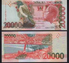 St. Thomas & Prince 20,000 Dobras 2010 Pick 67d Mint Unc