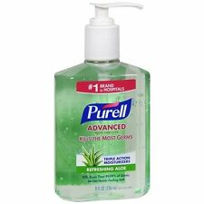 3 Pack - Purell Instant Hand Sanitizer With Refreshing Aloe, 8 Ounce Each