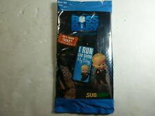 Blue BOSS BABY Subway Kids Pack Meal Promo Toy Backpack Tag
