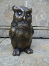 HIBOU OU CHOUETTE EN BRONZE ,statue animalière en bronze