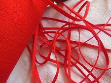 biais vintage ruban plat cordon rouge grenade lacet corsage 10 mètre