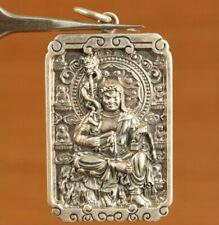 Fine silver 999 Vintage Kong Kim statue Pendant Necklace Exquisite decoration
