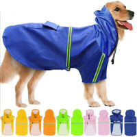 Dog Puppy Outdoor Rain Coat Safe Vest Style Cozy Waterproof Jacket Pet Clothes