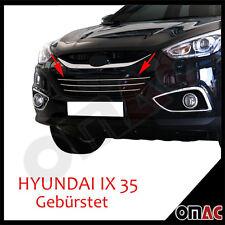 Hyundai ix-35 2010-chrome calandre Barres 3tlg Inox Brossé