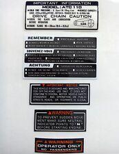 Honda ATC 110 Stickers Warning Advice For Tank Fender 1983/85 Sticker