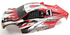 TROPHY Truggy BODY shell cover, Red White Black & decals painted HPI flux 107018