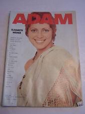 MAGAZINE EROTIQUE , ADAM N° 44 DE 1971 , ELISABETH WIENER . BON ETAT.