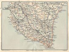 Carta geografica antica GALLIPOLI SANTA MARIA DI LEUCA TCI 1926 Antique map