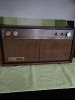 Vintage Walnut General Electric AM FM MUSAPHONIC, WORKS