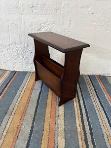Vintage Mahogany Veneer Coffee Side Table Magazine Stand
