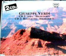 2 CDs: Giuseppe Verdi - Aida Rigoletto Highlights (1990, Pilz) German Import