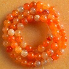 VB3385 6mm Red Dragon Veins Agate Ball Loose Beads 15''