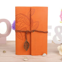 Classic Retro Notebook Leather Blank Diary Note Book Journal Sketchbook 8 Colors