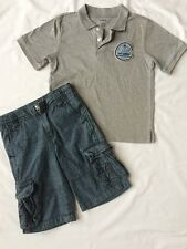 Gymboree Boys Size 5 Shirt Cargo Short LOT Racing Denim Jean Polo EUC 2 pieces