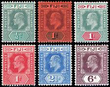 Fiji Scott 70-75 (1904-10) Mint H VF, CV $118.75