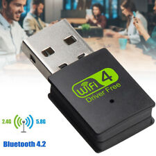 USB WiFi Bluetooth Adapter 600Mbps Dual Band Wireless External Receiver Dongle