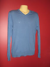 Moon Men's Blue V-Neck Sweater - Size Small - NWT