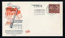 """BUND Nr.332 SCHMUCK-FDC WERBE-EST """"ESSEN"""" - Olympische Spiele !!! (130116)"""