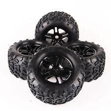 4X 1:8 Monster Truck Bigfoot Rubber Tires Wheel Rim For TRAXXAS Summit 17mm Hexa