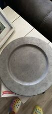 """Rustic Metal Charger Plates 13"""" Set of 6"""