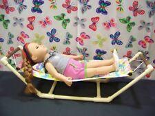 "HAMMOCK  fits American Girl & all 18"" dolls play set Gymnastic set - Pastel"