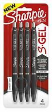 Sharpie S Gel Gel Pens Ultra Fine Point 038mm Black 4 Count