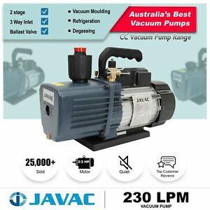 Vacuum Pump - JAVAC Dual Stage 230 lpm - Large flow Rate - Refrigeration HVAC