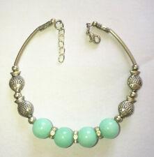 Ladies Jewelry Bangle Tibet Silver Light Green Jade Bracelet Fish Jewelry