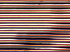 STRIPE JERSEY BLACK MULTI TEX EX 966 STRETCH DRESSMAKING FABRIC CHILDREN'S