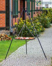 Korono Dreibein Schwenkgrill, Höhe 1,8m, Edelstahl Grillrost Ø 70 cm, Hand Made