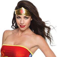 Ladies Wonder Woman Tiara Superhero Fancy Dress Costume Accessory