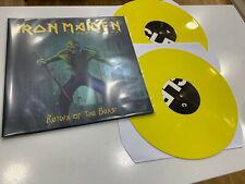 IRON MAIDEN 2 LP RETURN OF THE BEAST YELLOW VINYL