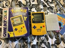 Nintendo Gameboy Color - Limited Edition Yellow - Pikachu/Pokemon - 100% Genuine