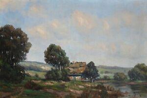 Original Ölgemälde Ölbild alt antik Impressionismus Romantik Landschaft 1900