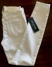 TRUE RELIGION WOMENS JEANS SIZE 28 HIGH RISE SUPER SKINNY WHITE MADE IN USA NWT.