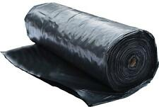 6 Mil Plastic Poly Sheeting Black (10' x 100') - Polyethylene Roll UV Treated