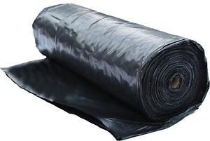 6 Mil Plastic Poly Sheeting Black (20' x 100') - Polyethylene Roll - 2,000 SQ FT