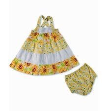 Penelope Mack Yellow Sunflower Sundress & Diaper Cover SIZE 3 6 Months